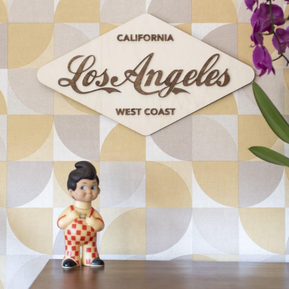 décoration murale intérieur vintage bois retro los angeles route 66 california west coast