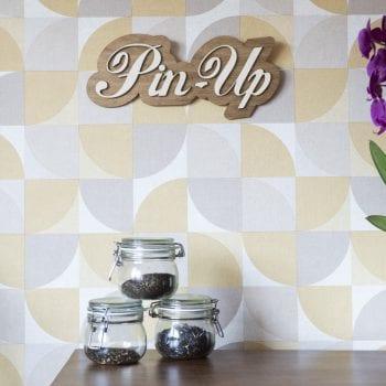 décoration murale intérieur vintage bois retro pin up 50's