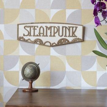 décoration murale intérieur steampunk retro vintage bois bioshock gaming