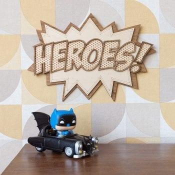 décoration murale intérieur comics super heroes vintage comic book