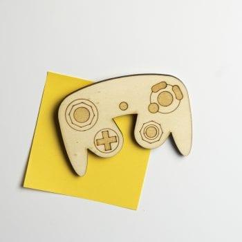 magnet console bois retro gamecube manette jeux vidéos gaming