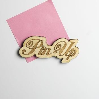 magnet vintage bois pin up rock 50's retro USA décoration