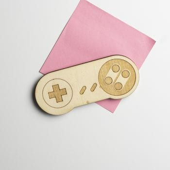 magnet bois console snes retro gaming jeux vidéos manette geek décoration