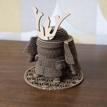 samurai puzzle 3D japon carton figurine