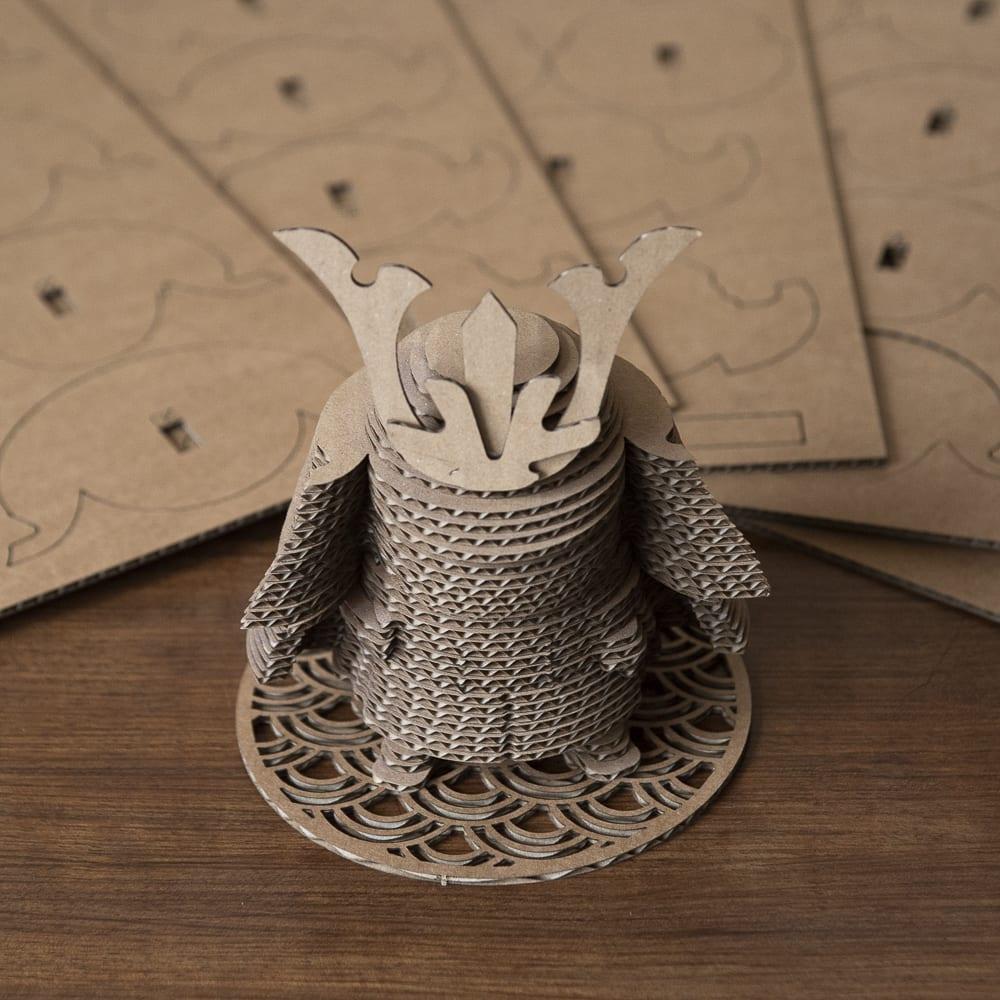 figurine japon samurai ninja carton 3D puzzle
